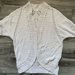 Hollister Tan Short Sleeve Cardigan